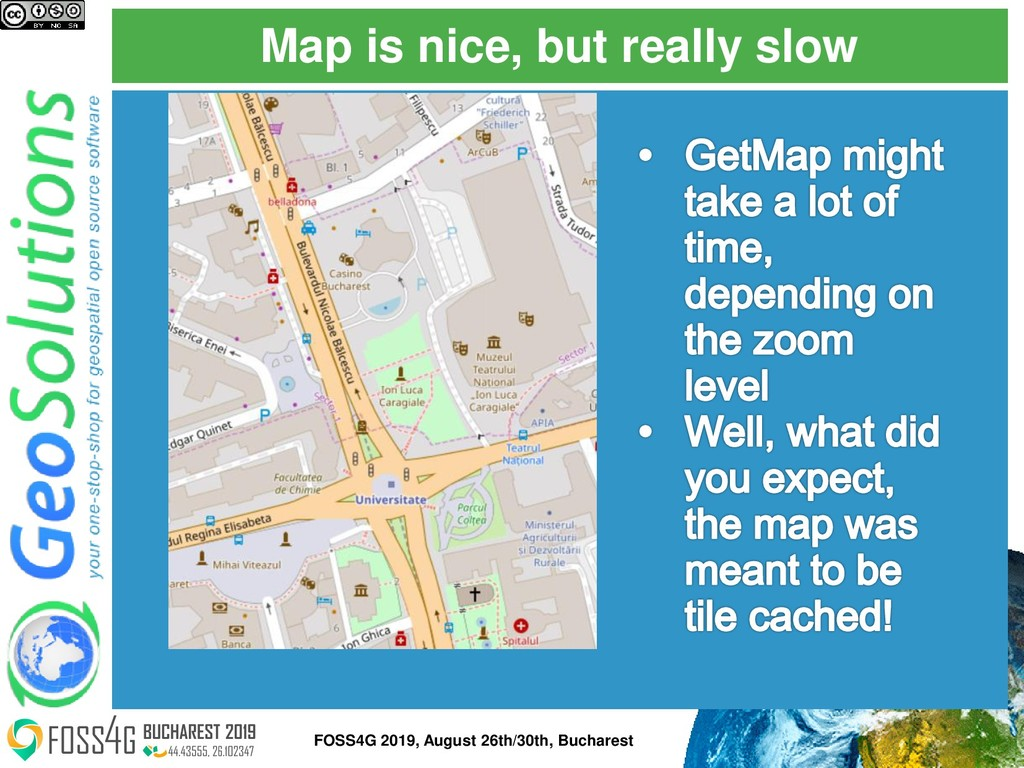 Map is nice, but really slow FOSS4G 2019, Augus...