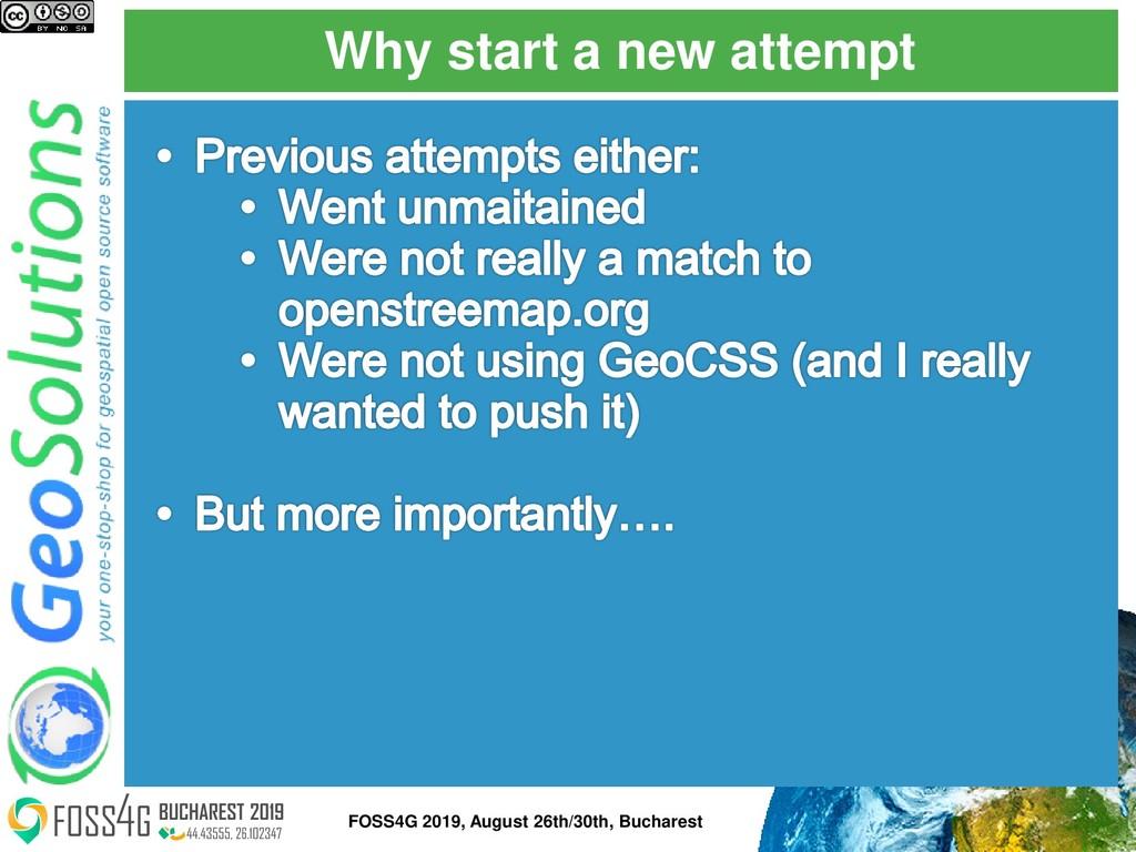 Why start a new attempt FOSS4G 2019, August 26t...
