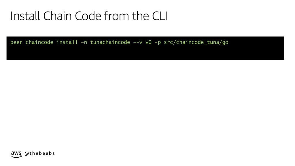 @ t h e b e e b s Install Chain Code from the C...
