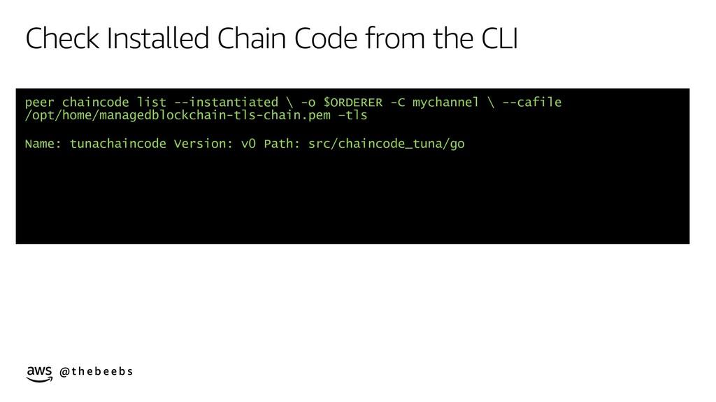 @ t h e b e e b s Check Installed Chain Code fr...