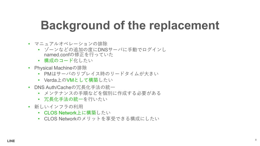 Background of the replacement 8 • (#+/'0,2...
