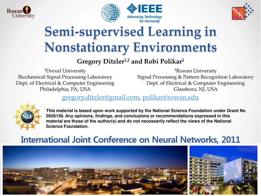 Semi-supervised Learning in Nonstationary Envir...