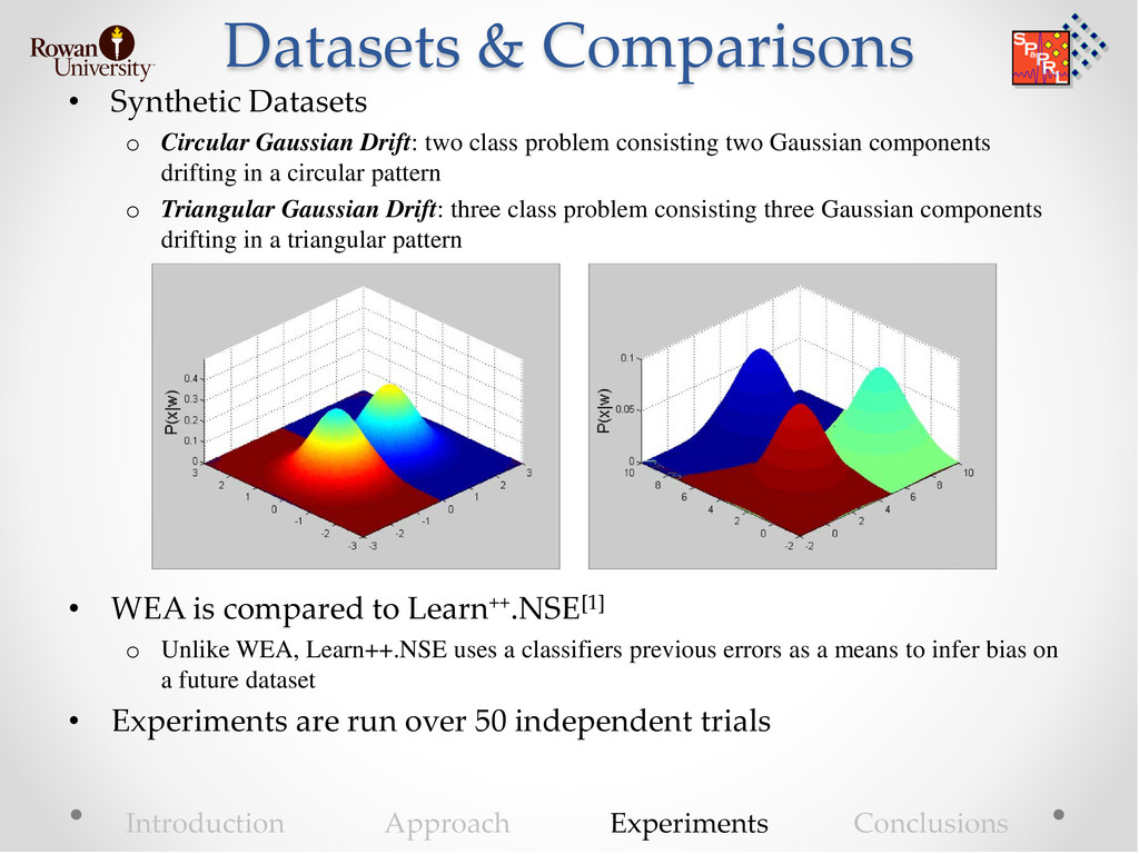 Datasets & Comparisons • Synthetic Datasets o C...