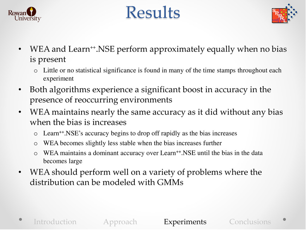 Results • WEA and Learn++.NSE perform approxima...