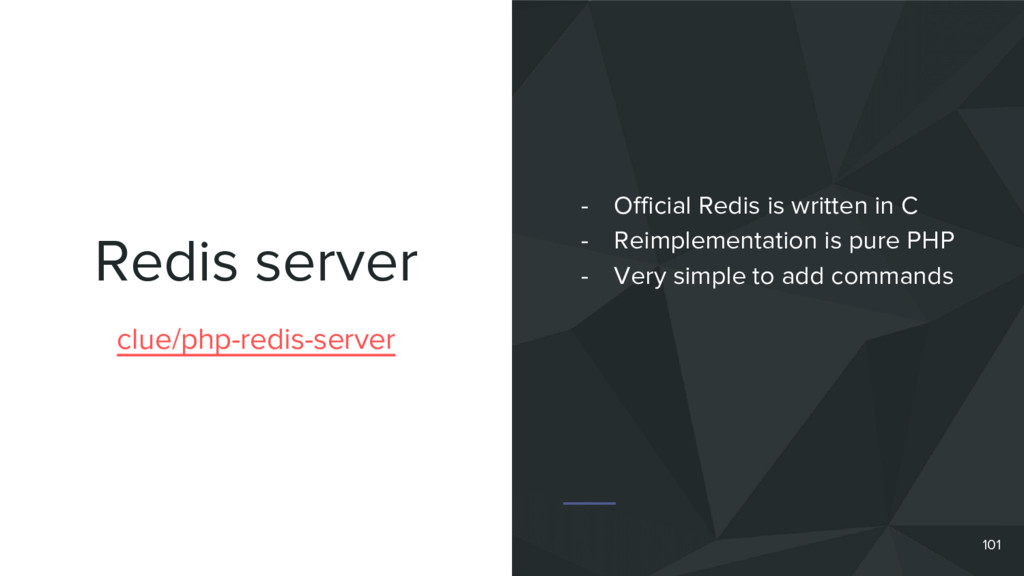 Redis server 101 clue/php-redis-server - Offici...
