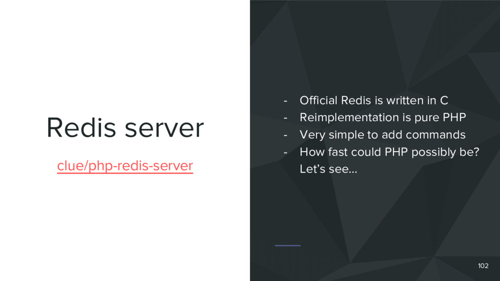 Redis server 102 clue/php-redis-server - Offici...