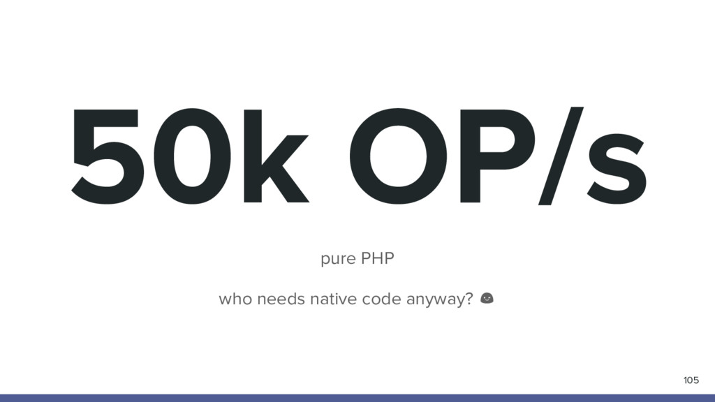 50k OP/s pure PHP who needs native code anyway?...