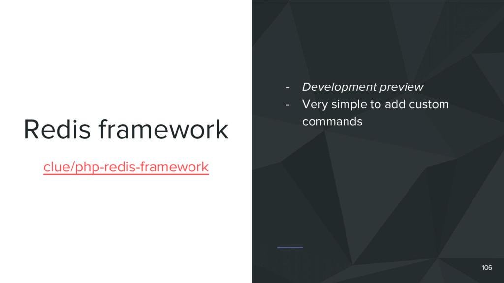 Redis framework 106 clue/php-redis-framework - ...