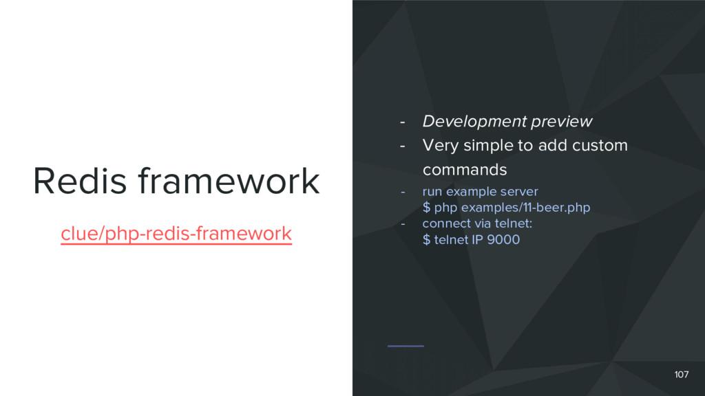 Redis framework 107 clue/php-redis-framework - ...