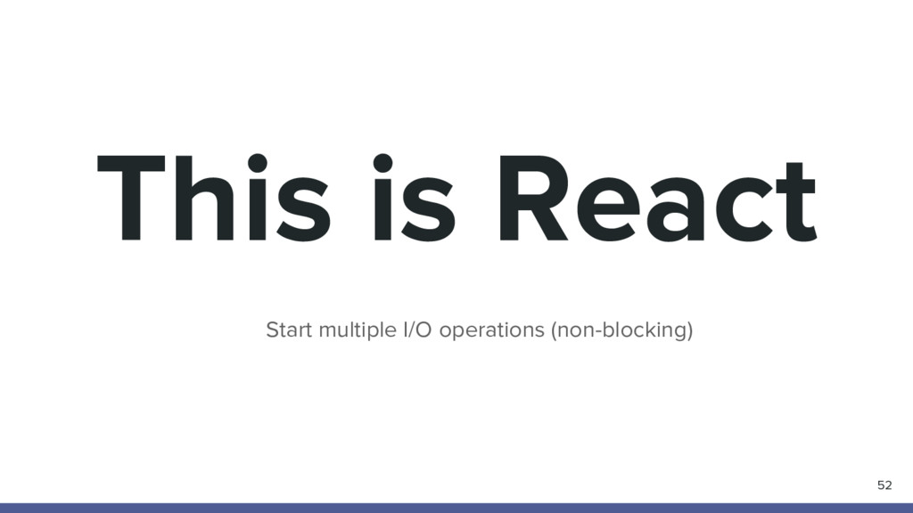 This is React 52 Start multiple I/O operations ...