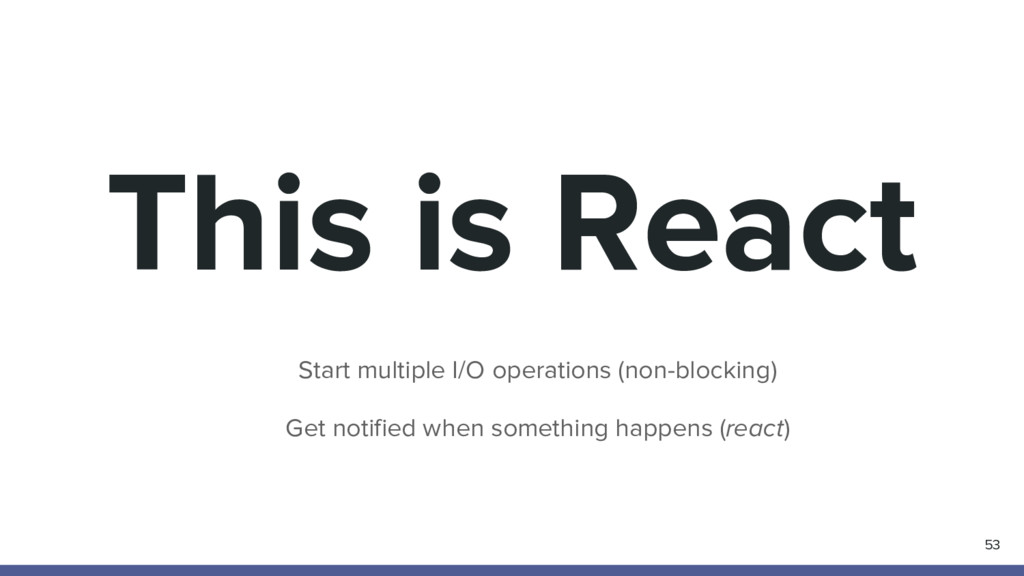 This is React 53 Start multiple I/O operations ...