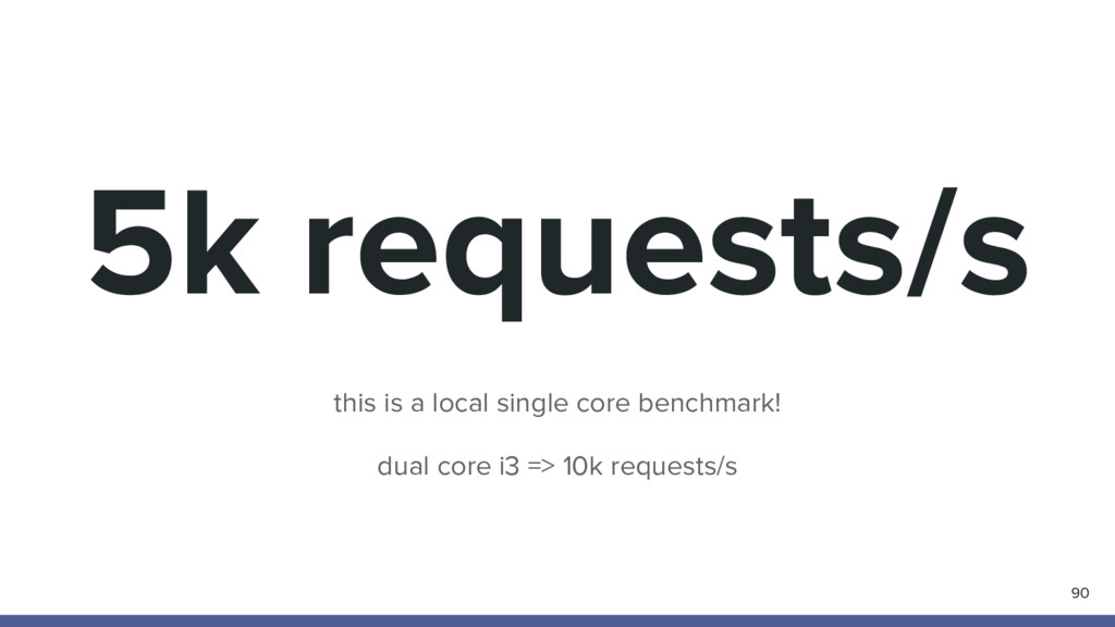 5k requests/s 90 this is a local single core be...