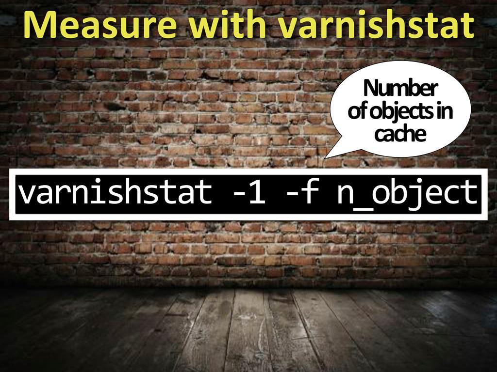 varnishstat$I1$If$n_object Measure%with%varnish...