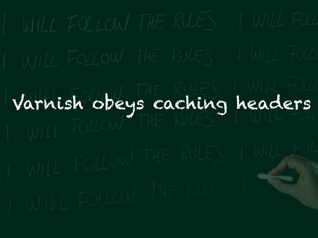 Varnish obeys caching headers
