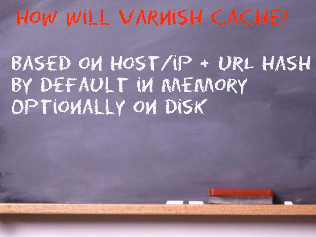 based on host/ip + urL hash By default in Memor...