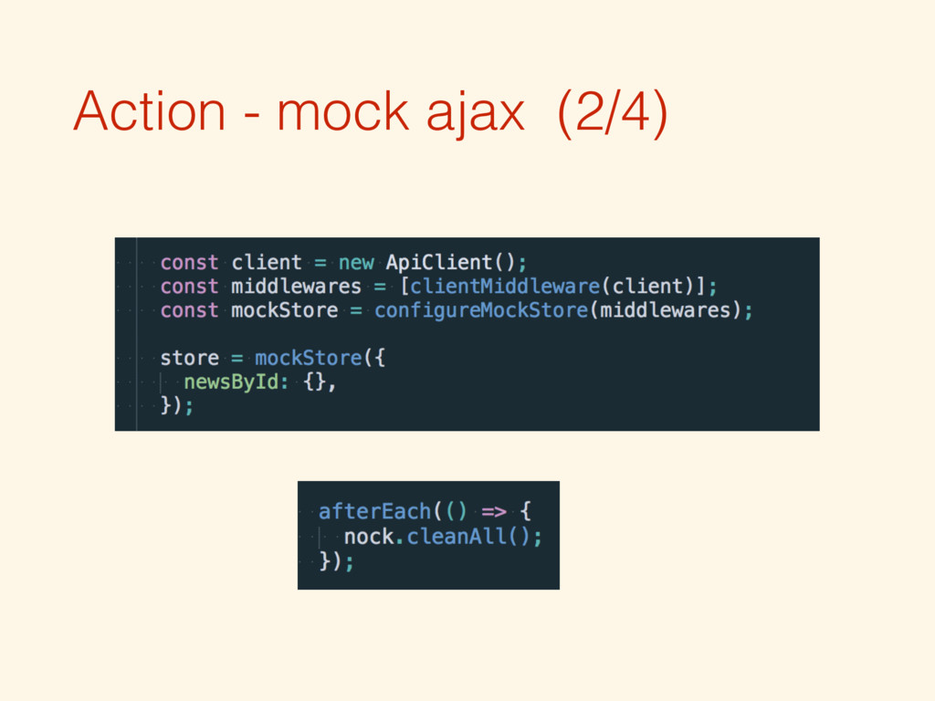 Action - mock ajax (2/4)