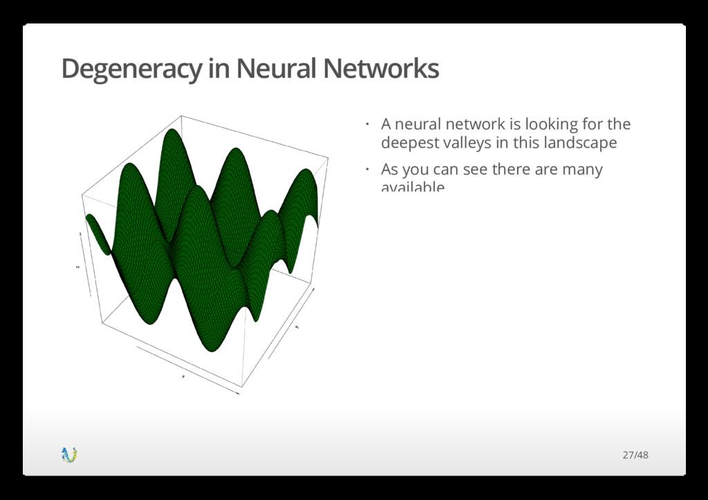 Degeneracy in Neural Networks A neural network ...