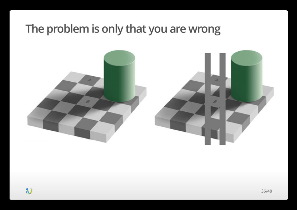 The problem is only that you are wrong 36/48