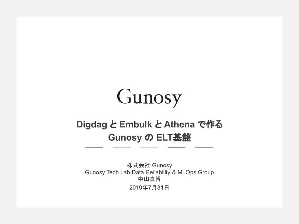 株式会社 Gunosy Gunosy Tech Lab Data Reliability & ...
