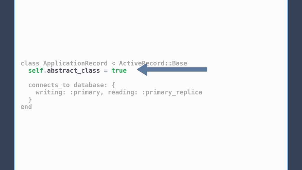 class ApplicationRecord < ActiveRecord::Base se...