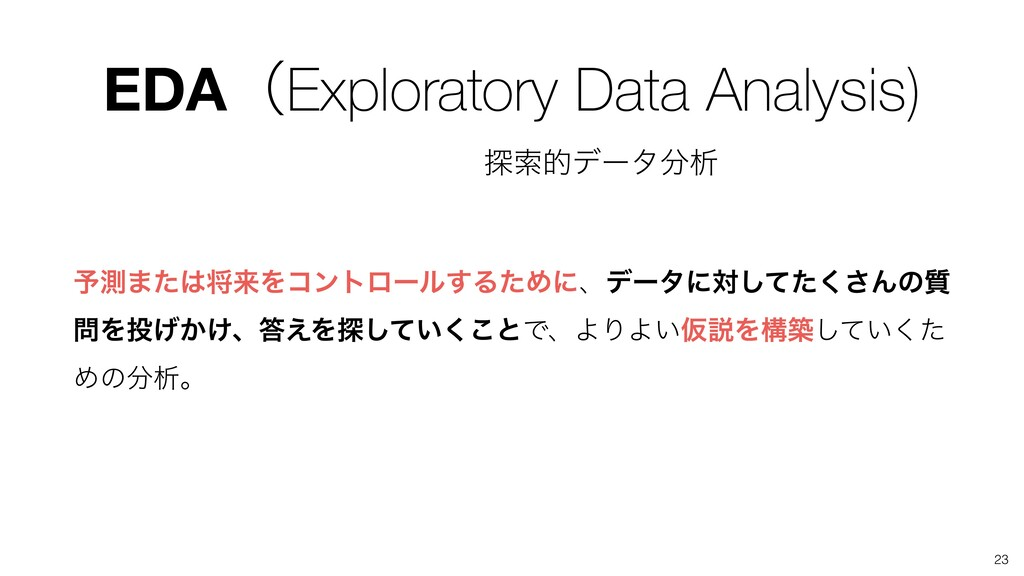 EDAʢExploratory Data Analysis) ༧ଌ·ͨকདྷΛίϯτϩʔϧ͢Δ...
