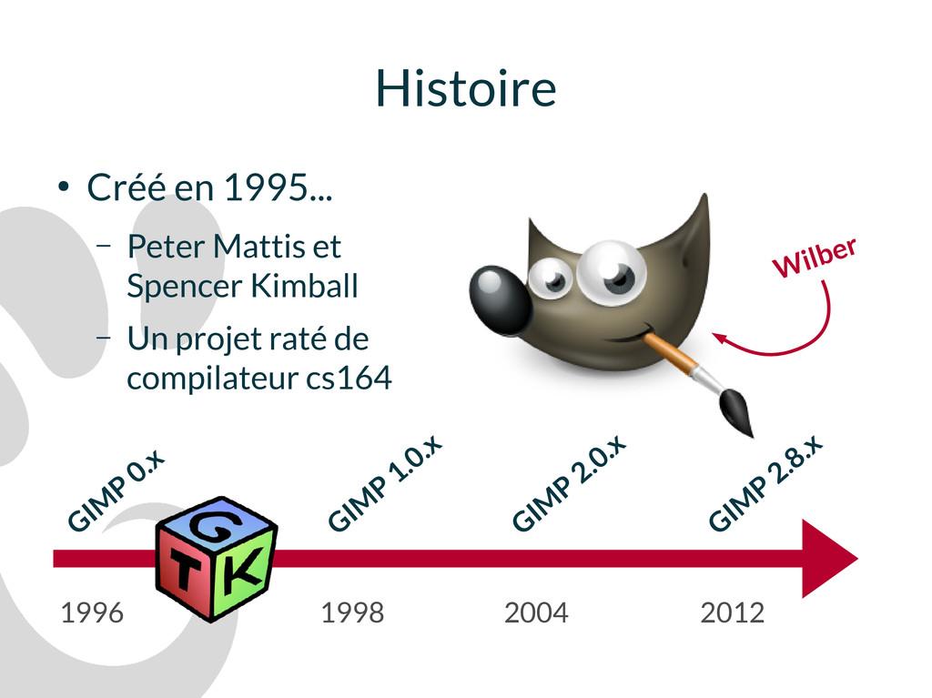 Histoire ● Créé en 1995... – Peter Mattis et Sp...