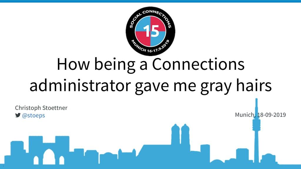 @stoeps Social Connections 15 #CnxGrayHair 1 Ho...