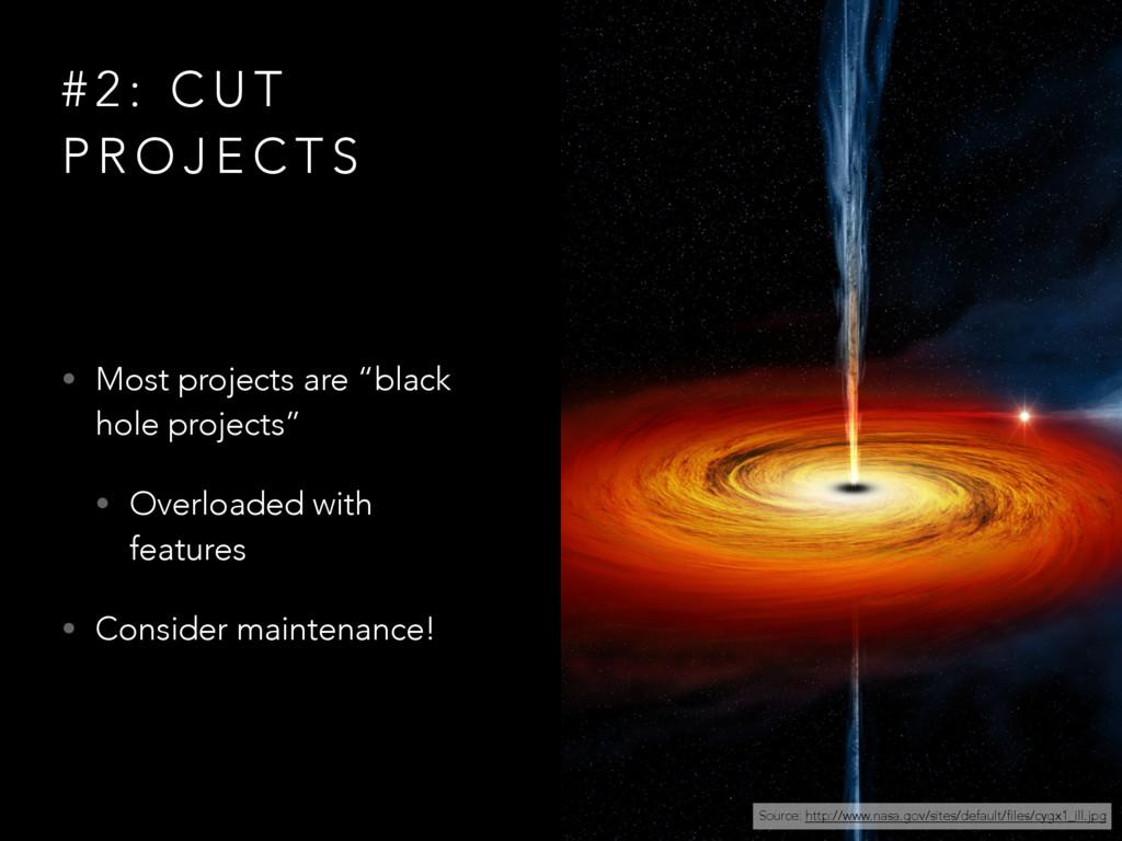 # 2 : C U T P R O J E C T S • Most projects are...