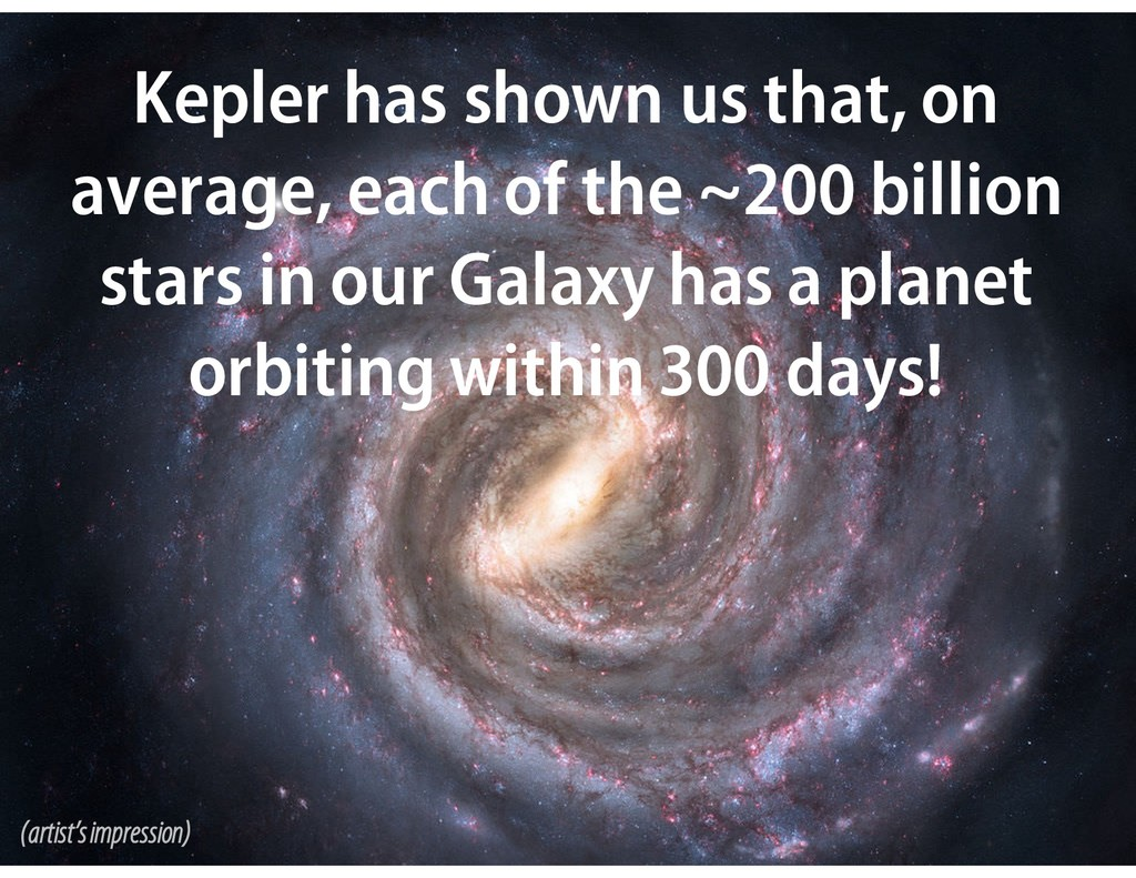 Kepler has shown us that, on average, each of t...