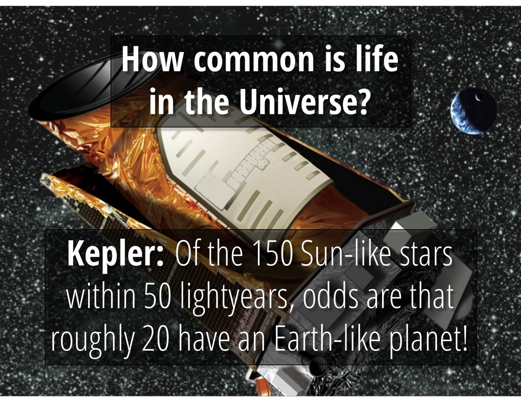 How common is life in the Universe? Kepler: Of ...