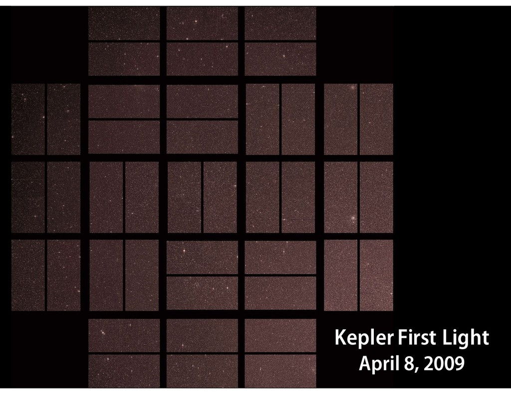 V = 13.3 mag Kepler First Light April 8, 2009