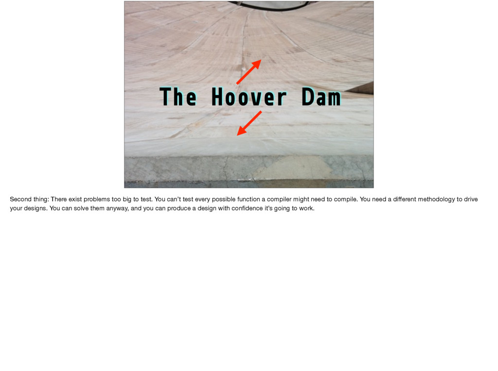 The Hoover Dam Second thing: There exist proble...