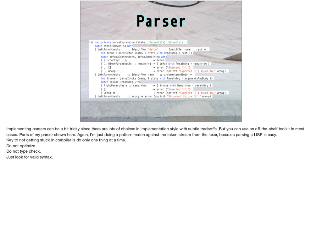 Parser let rec private parseExpression (state :...