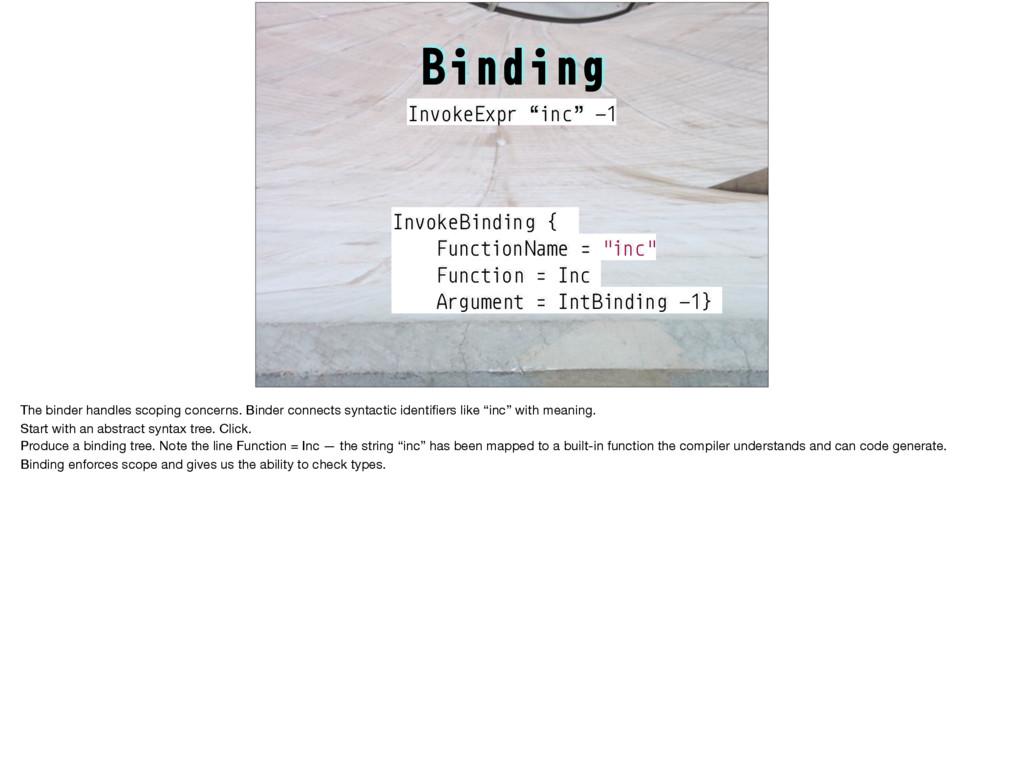 "InvokeBinding { FunctionName = ""inc"" Function =..."