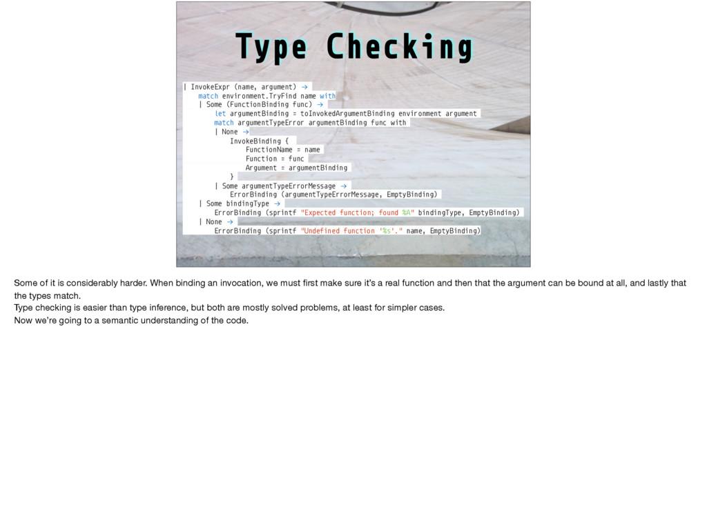 Type Checking | InvokeExpr (name, argument) !→ ...