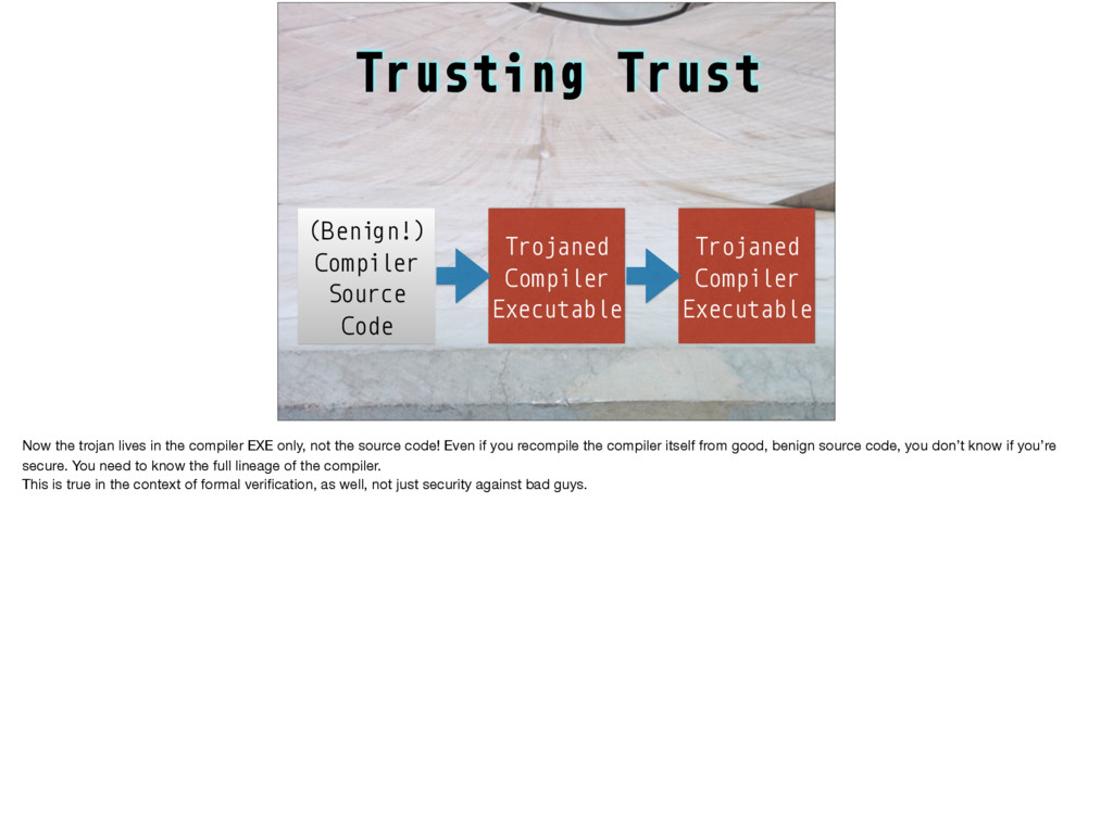 Trusting Trust Trojaned Compiler Executable (Be...