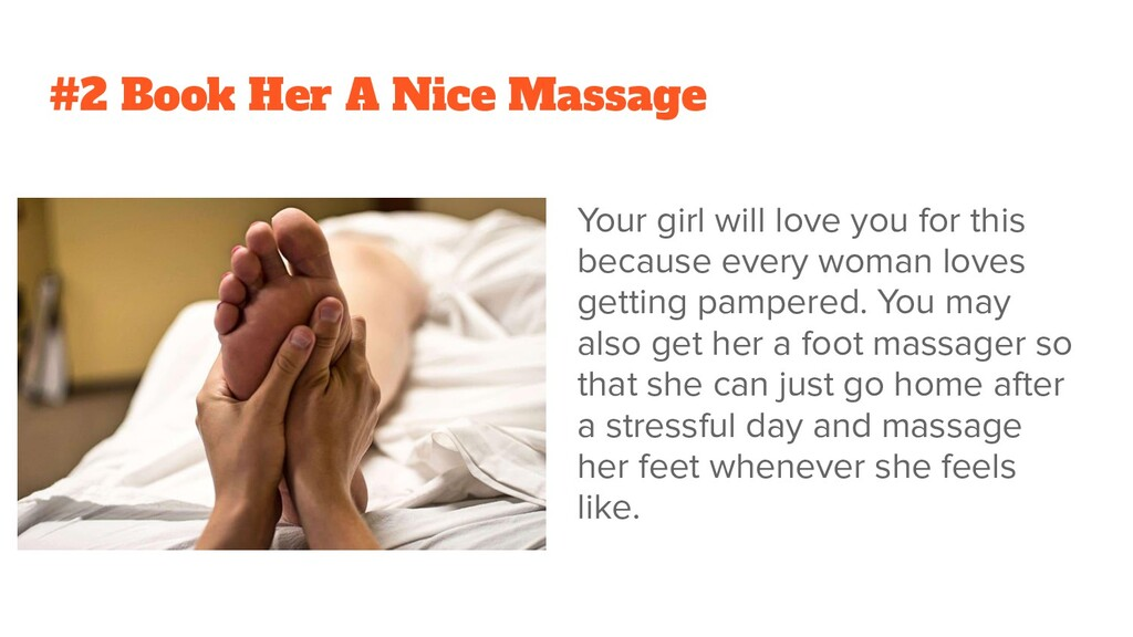 #2 Book Her A Nice Massage Your girl will love ...