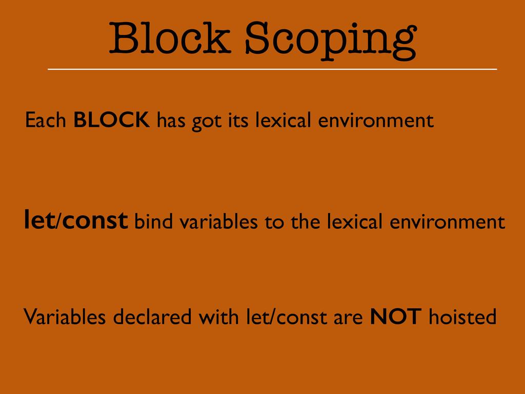 Block Scoping Each BLOCK has got its lexical en...
