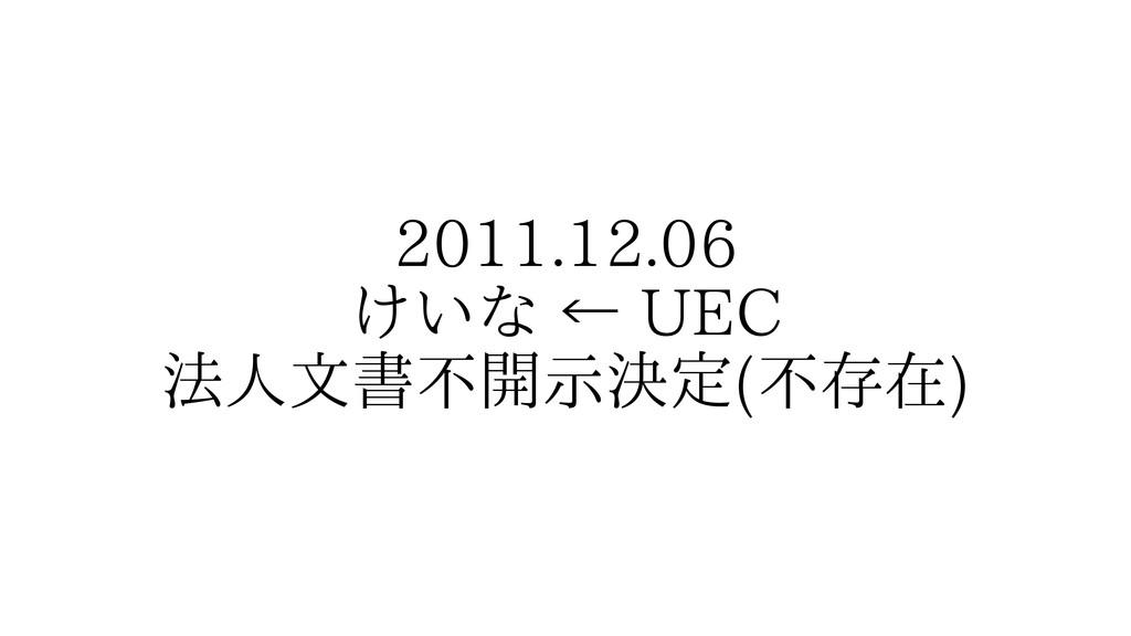 2011.12.06 けいな ← UEC 法人文書不開示決定(不存在)