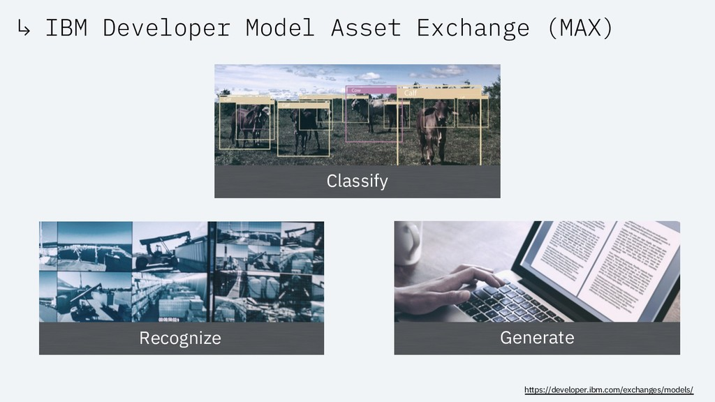 ↳ IBM Developer Model Asset Exchange (MAX) http...