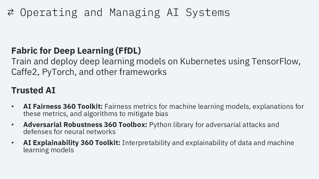 ⇄ Operating and Managing AI Systems Fabric for ...