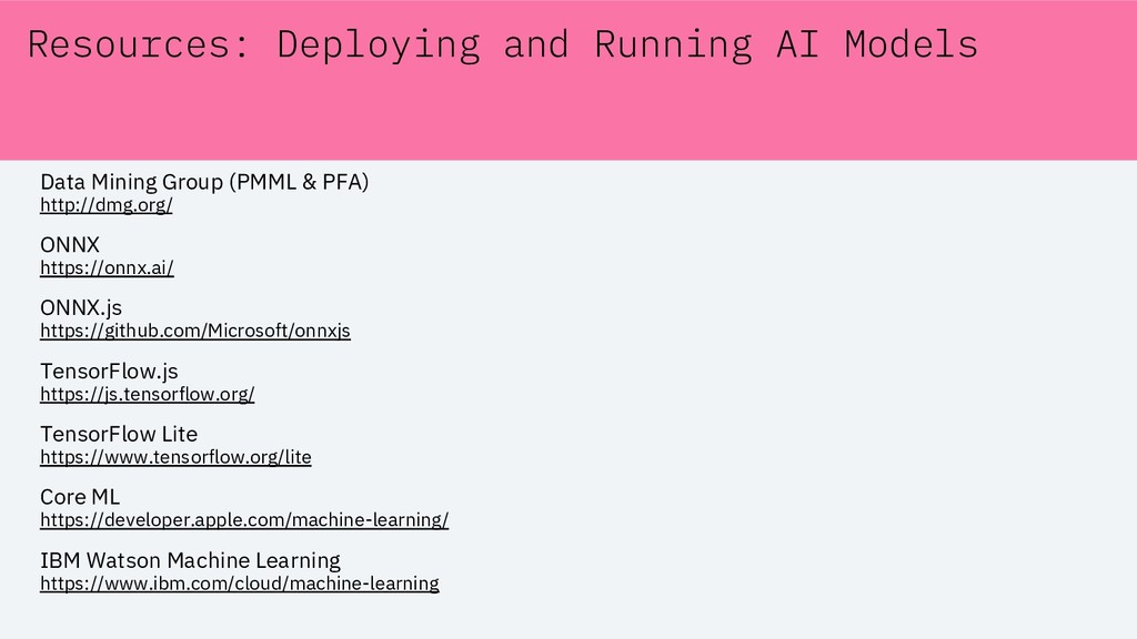 Resources: Deploying and Running AI Models Data...