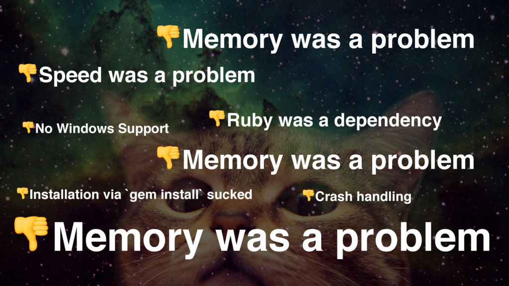 No Windows Support Memory was a problem Ruby wa...