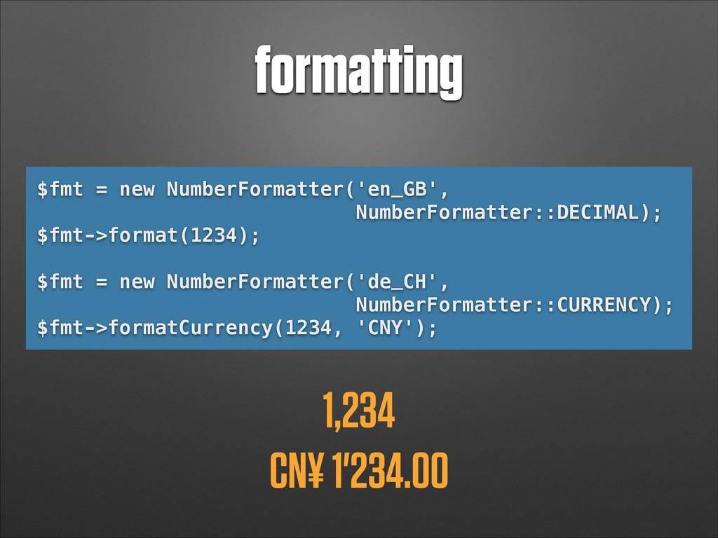 formatting $fmt = new NumberFormatter('en_GB', ...
