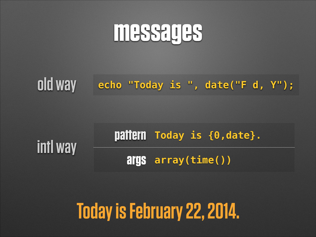 "messages Today is February 22, 2014. echo ""Toda..."