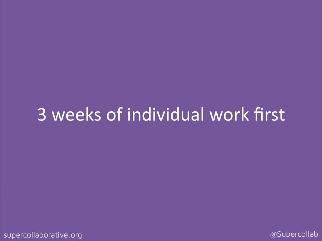 supercollaborative.org @Supercollab 3 weeks...