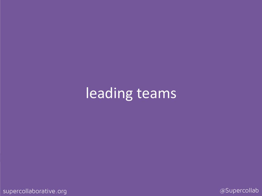 supercollaborative.org @Supercollab leading ...