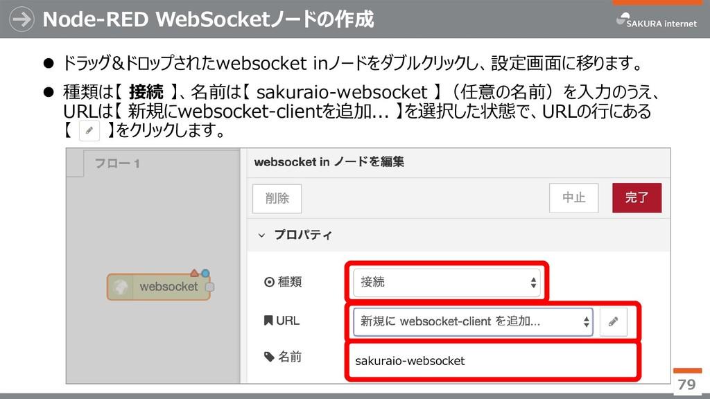 Node-RED WebSocketノードの作成  ドラッグ&ドロップされたwebsocke...