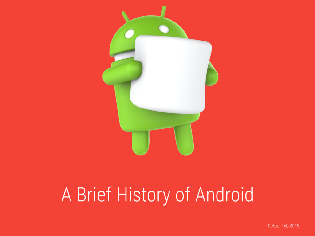 A Brief History of Android Gebze, Feb 2016