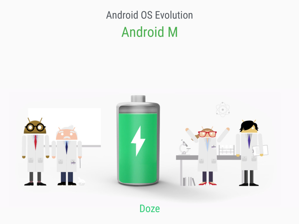Android OS Evolution Android M Doze